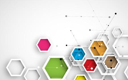 Hexágono abstracta de fondo. La tecnología de diseño poligonal. minimalismo futurista digital. Vector