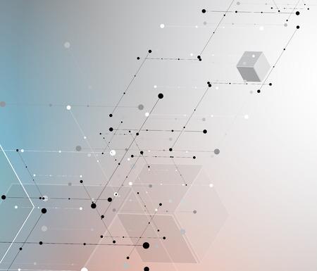 digital background: Abstract hexagon background. Technology polygonal design. Digital futuristic minimalism. Vector Illustration