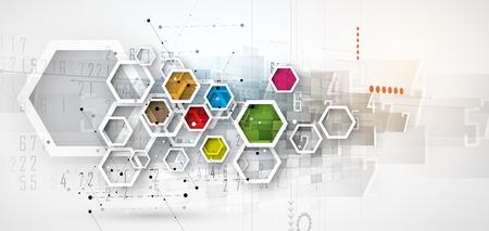 デジタル テクノロジーの世界。仮想のビジネス コンセプト