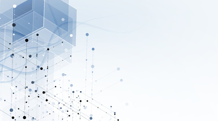 Abstrakt Hexagon Hintergrund. Technologie polygonal Design. Digitale futuristisch Minimalismus. Vektor