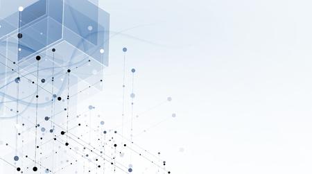 Résumé de fond hexagonal. Technologie de conception polygonale. minimalisme futuriste numérique. Vecteur