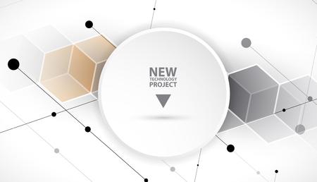 background information: Abstract hexagon background. Technology polygonal design. Digital futuristic minimalism. Vector Illustration