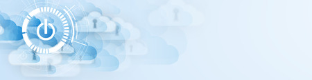 Modern cloud technology. Integrated digital web concept background 일러스트
