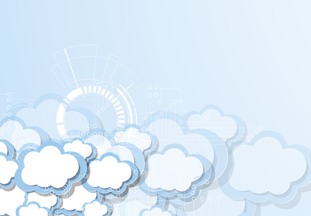 Modern cloud technology. Integrated digital web concept background Иллюстрация