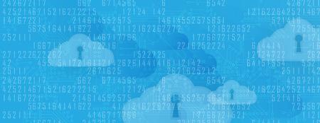 storage device: Modern cloud technology. Integrated digital web concept background Illustration