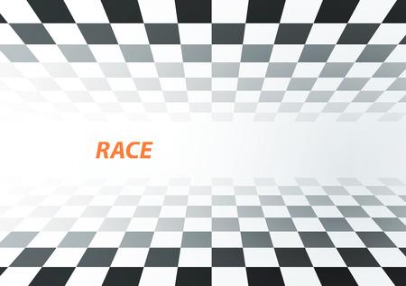 正方形の背景をレース、ベクトル車トラックの抽象化  イラスト・ベクター素材