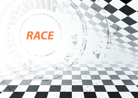 flag: Racing square background, vector abstraction in car track