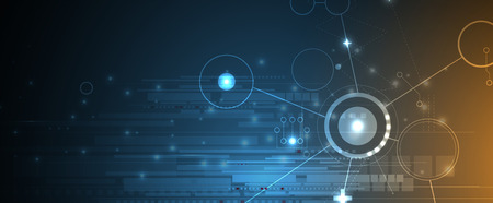 fondo oscuro abstracta equipo circuito de la tecnología futurista internet negocio de tableros