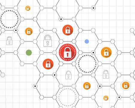 Concept de sécurité de la technologie. sécurité moderne d'arrière-plan numérique. Système de protection Banque d'images - 70557907