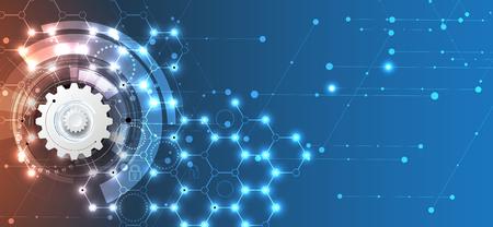 Concepto de seguridad de la tecnología. Fondo digital de seguridad moderna. Sistema de protección