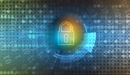 Technologie veiligheidsconcept. Moderne veiligheid digitale achtergrond. beveiligingssysteem
