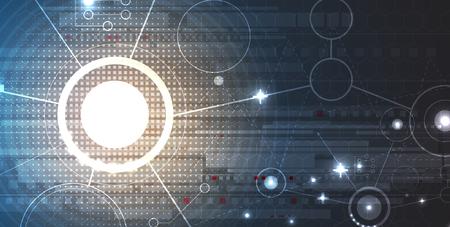 sistemas: Concepto de seguridad de la tecnología. moderna de la seguridad digital de fondo. Sistema de protección Vectores