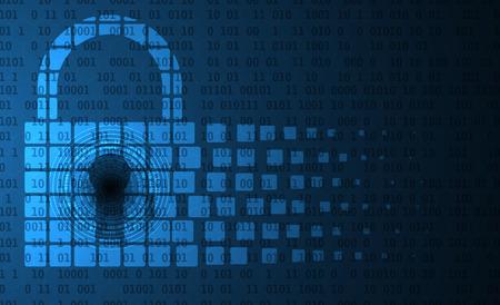 Concepto de seguridad de la tecnología. moderna de la seguridad digital de fondo. Sistema de protección Ilustración de vector