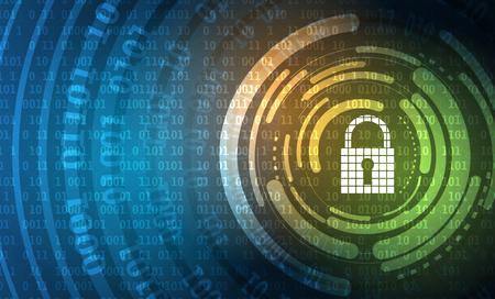 proteccion: Concepto de seguridad de la tecnología. moderna de la seguridad digital de fondo. Sistema de protección Vectores