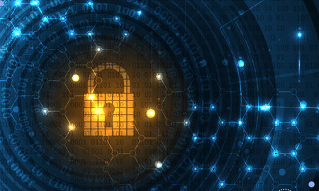 concept de sécurité de la technologie. sécurité moderne d'arrière-plan numérique. Système de protection