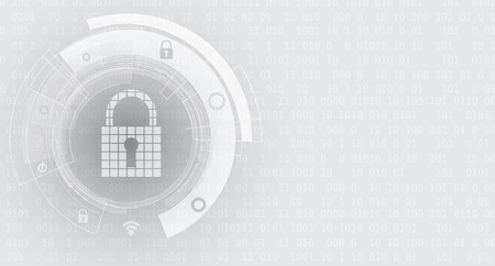 Technology security concept. Modern safety digital  . Protection system Stock Illustratie