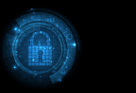 secure: Technology security concept. Modern safety digital  . Protection system Illustration