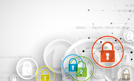 security safety: Technology security concept. Modern safety digital background. Protection system