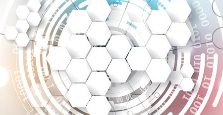 space program: Digital technology world. Business virtual concept