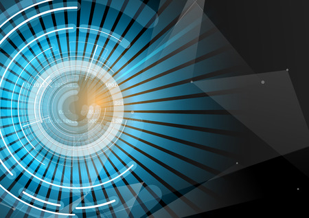 Illustration of abstract futuristic fade computer technology business background