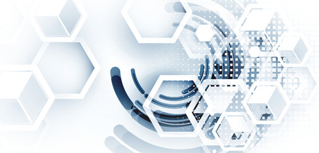 koncept: Digital teknik värld. Business virtuellt koncept