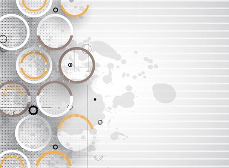electronic circuit: Digital technology world. Business virtual concept. Vector background futuristic minimalism.