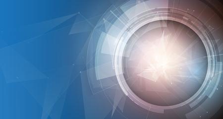 Media technologie, evolutie van integratie in het leven, voor zakelijke wereld concept, vector achtergrond
