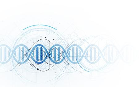 ADN y antecedentes médicos y tecnológicos. Presentación futurista de la estructura de la molécula. Solución de negocio Foto de archivo - 77914107