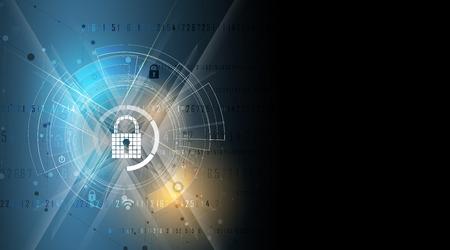 La cybersécurité et l'information ou la protection du réseau. Futurs services Web de cyber-technologie pour les projets commerciaux et Internet Banque d'images - 78751890