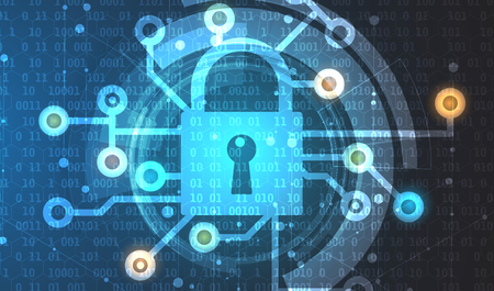 Cyber security and information or network protection. Future cyber technology web services for business and internet project Vectores