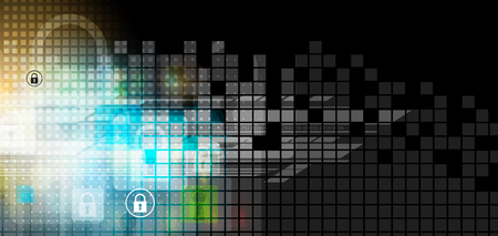 Cyber security and information or network protection. Future cyber technology web services for business and internet project 일러스트