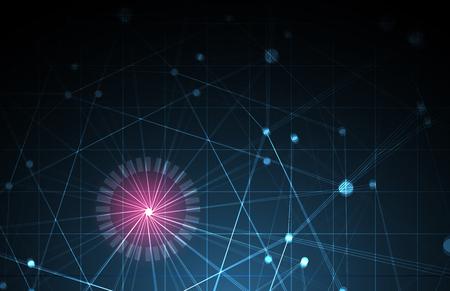 abstracto futurista desvanecimiento tecnología informática fondo de negocios