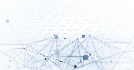 ニューラル ネットワークの概念。リンクにセルを接続します。高度な技術プロセス。抽象的な背景