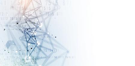 신경 네트워크 개념입니다. 연결된 셀과 링크. 첨단 기술 프로세스. 추상적 인 배경 일러스트