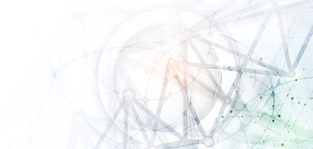 Neural network concept. Connected cells with links. High technology process. Abstract background Illustration