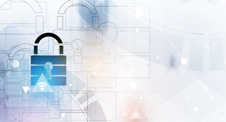 Cyber security and information or network protection. Future cyber technology web services for business and internet project Illustration