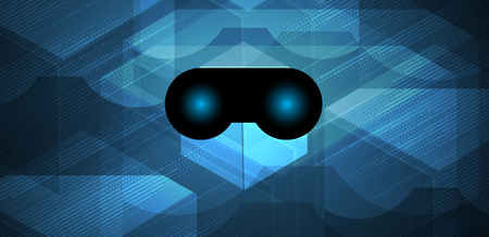 mobile device: virtual reality in life future technology abstract background Illustration