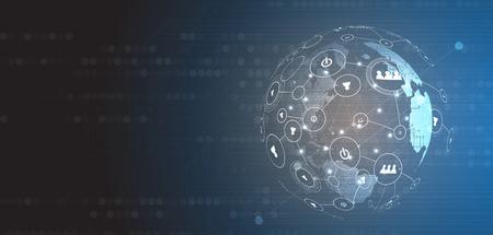 Abstrakte Künstliche Intelligenz. Technologiewebhintergrund. Virtuelles Konzept Standard-Bild - 86478454