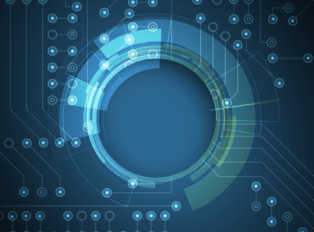 Digital technology world. Business virtual concept Vetores