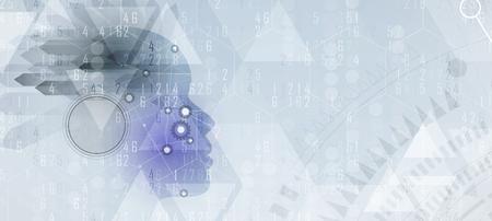 Abstrakte Künstliche Intelligenz . Technologie Web-Konzept . Virtuelles Konzept Standard-Bild - 88224443
