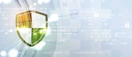 Cybersicherheit und Informations- oder Netzwerkschutz. Zukünftige Cyber-Technologie-Webdienste für Geschäfts- und Internetprojekte