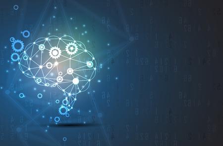 Streszczenie Sztuczna inteligencja. Technologia internetowa tło. Wirtualna koncepcja