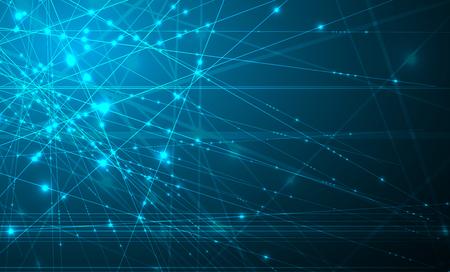 Concetto di rete neurale. Cellule collegate con collegamenti. Processo ad alta tecnologia. Sfondo astratto