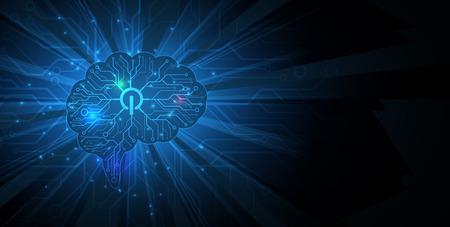 Neural network concept illustration. Ilustração