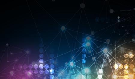 Neural network concept illustration.