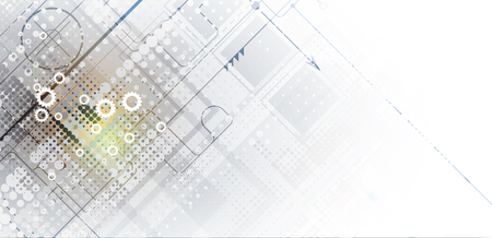 Modèle de conception de carte du monde de la technologie numérique. Vecteurs