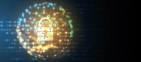 cyber ? ? de sécurité et les informations ou le réseau de la technologie . technologies web futurs technologies d & # 39 ; affaires pour le web et le projet internet Vecteurs