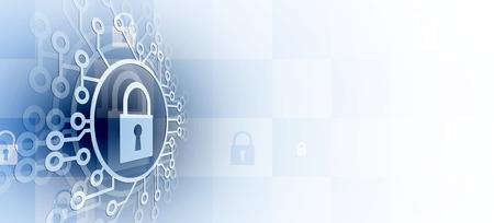 Seguridad cibernética e información o protección de la red. Futuros servicios web de tecnología cibernética para proyectos empresariales e internet Ilustración de vector