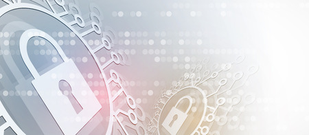 Cyber security and information or network protection. Future cyber technology web services for business and internet project Stock Illustratie