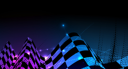 Racing square background, vector abstraction in car track. Illustration